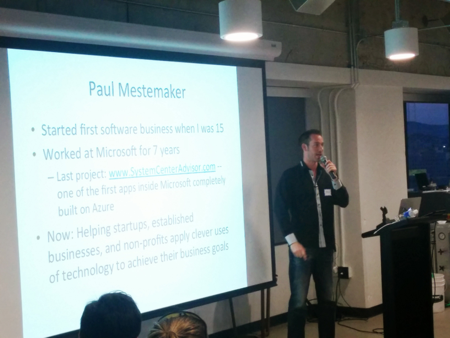 Paul Mestemaker speaking at SF Rails