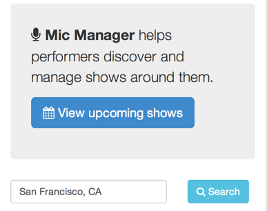 Mic Manager - Software for Standup Comics